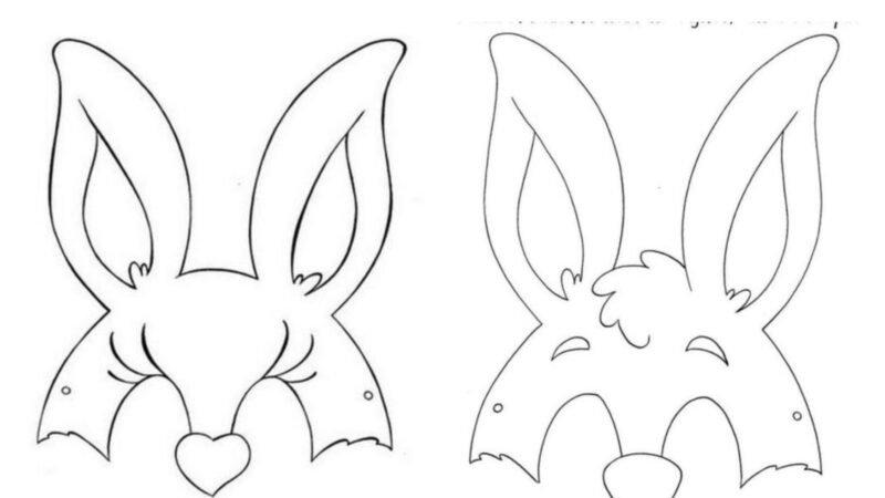 Molde Máscara de Coelho para Pascoa!