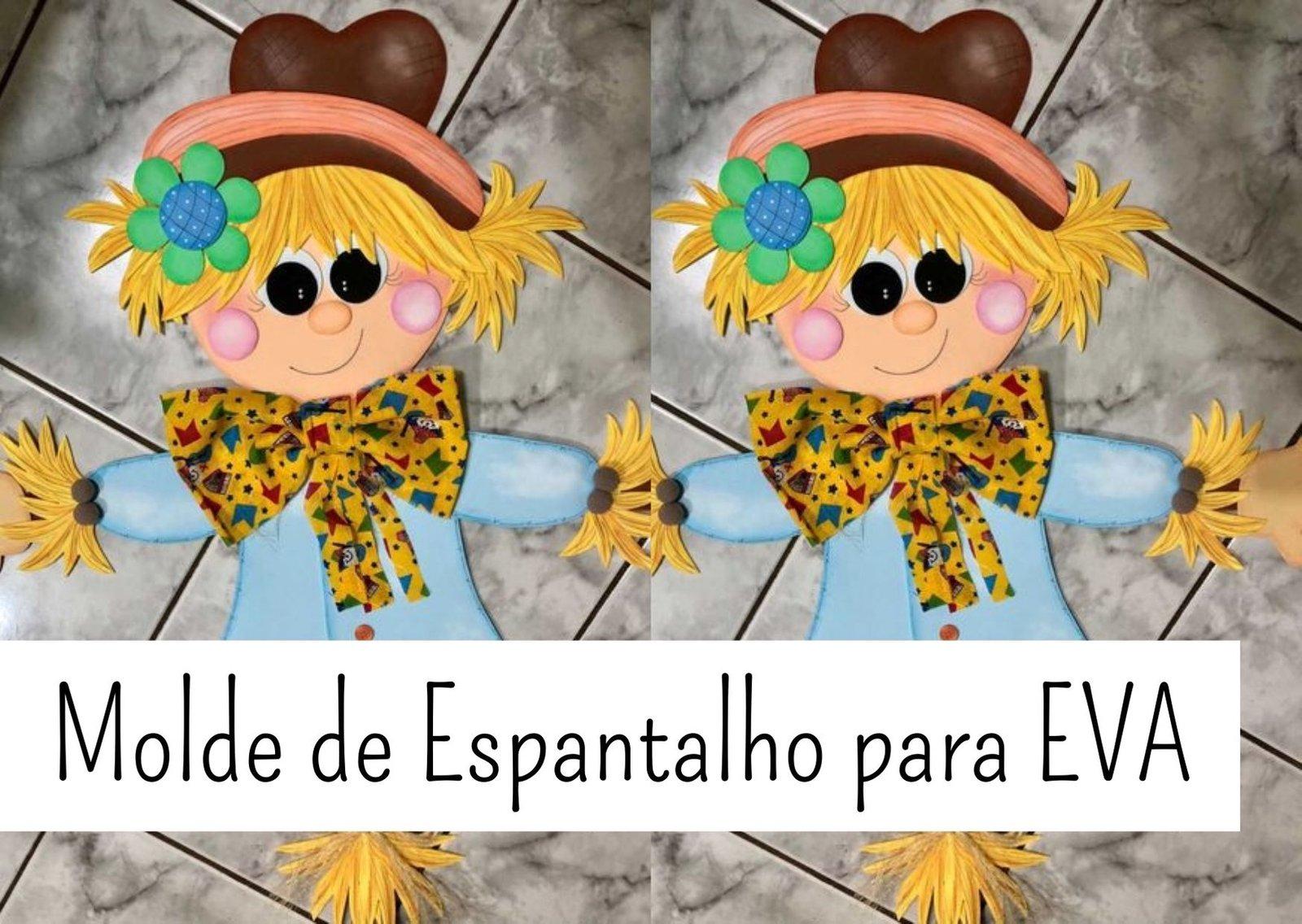 Molde de Espantalho de EVA para Artesanato Grátis!